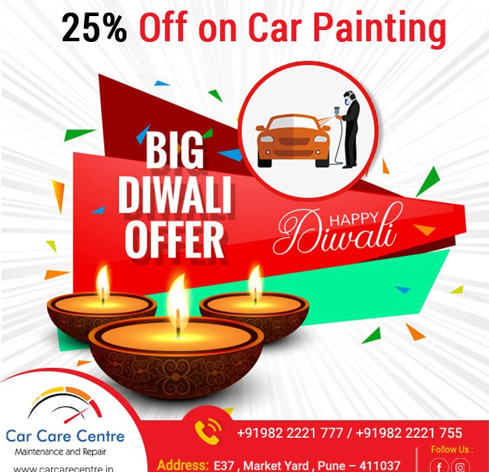 Big Diwali Offer 25% off on car painting