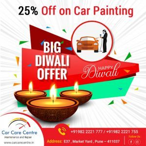 Big Diwali Offer 25% off on car painting